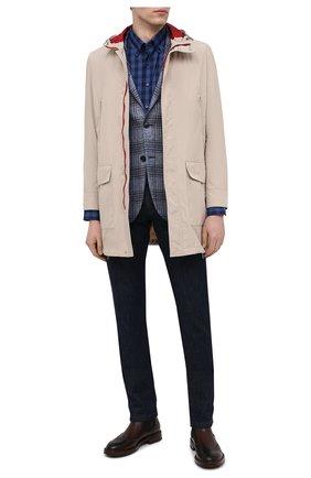 Мужская хлопковая рубашка ZILLI SPORT синего цвета, арт. MFU-7025-0001/0016/18/20/22/24 | Фото 2