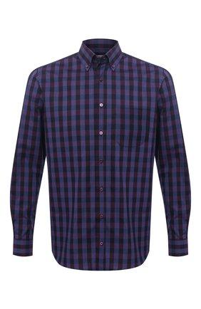 Мужская хлопковая рубашка ZILLI SPORT бордового цвета, арт. MFU-7025-0001/0017/19/21/23/25 | Фото 1