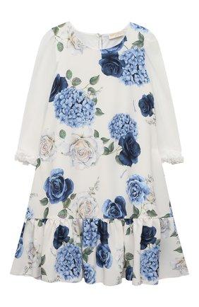 Детское платье MONNALISA голубого цвета, арт. 717917 | Фото 1