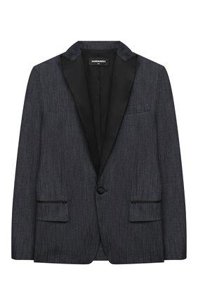 Детский хлопковый пиджак DSQUARED2 синего цвета, арт. DQ0066-D005Q | Фото 1