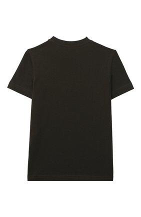 Детская хлопковая футболка DSQUARED2 темно-коричневого цвета, арт. DQ0192-D00MQ | Фото 2