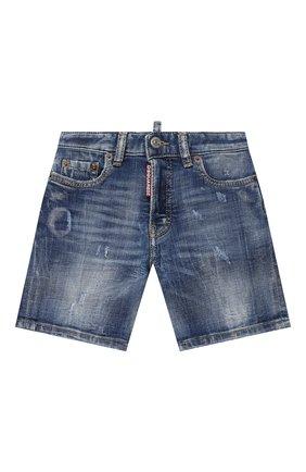 Детские джинсовые шорты DSQUARED2 синего цвета, арт. DQ0237-D005F | Фото 1