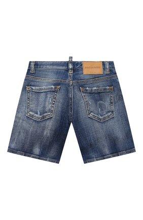 Детские джинсовые шорты DSQUARED2 синего цвета, арт. DQ0237-D005F | Фото 2