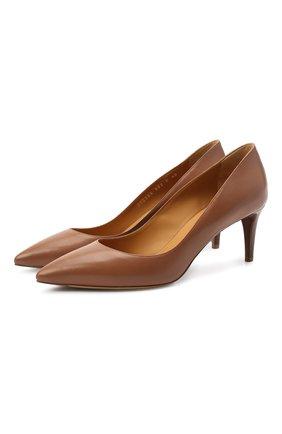 Женские кожаные туфли dinah RALPH LAUREN коричневого цвета, арт. 800773164 | Фото 1