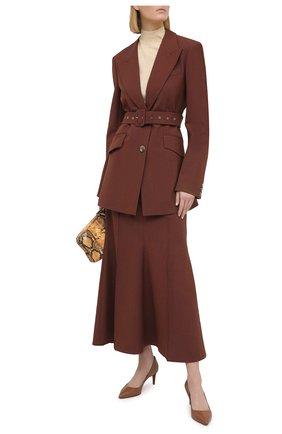 Женские кожаные туфли dinah RALPH LAUREN коричневого цвета, арт. 800773164 | Фото 2