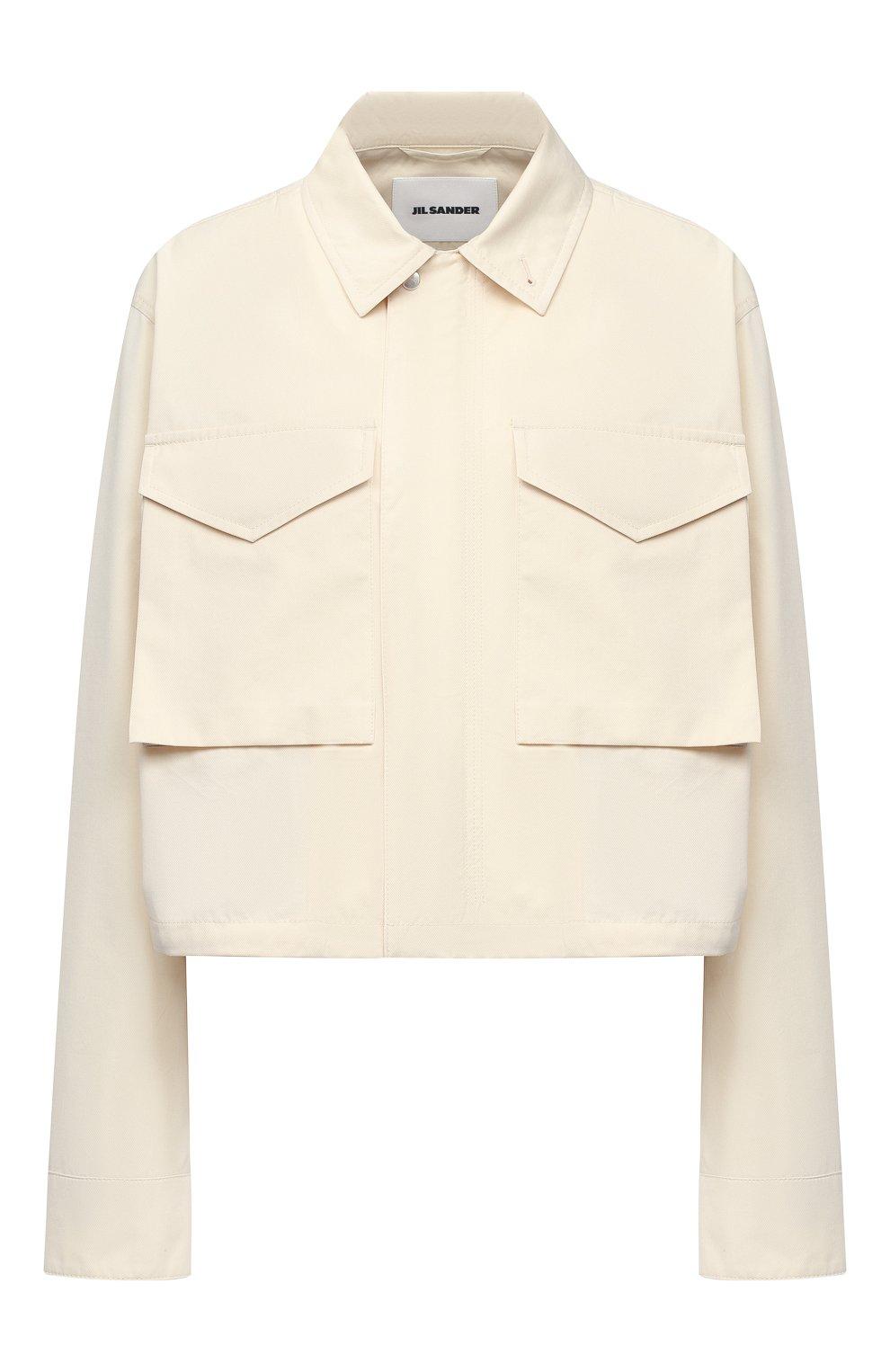 Женская хлопковая рубашка JIL SANDER кремвого цвета, арт. JSPS420305-WS251800 | Фото 1