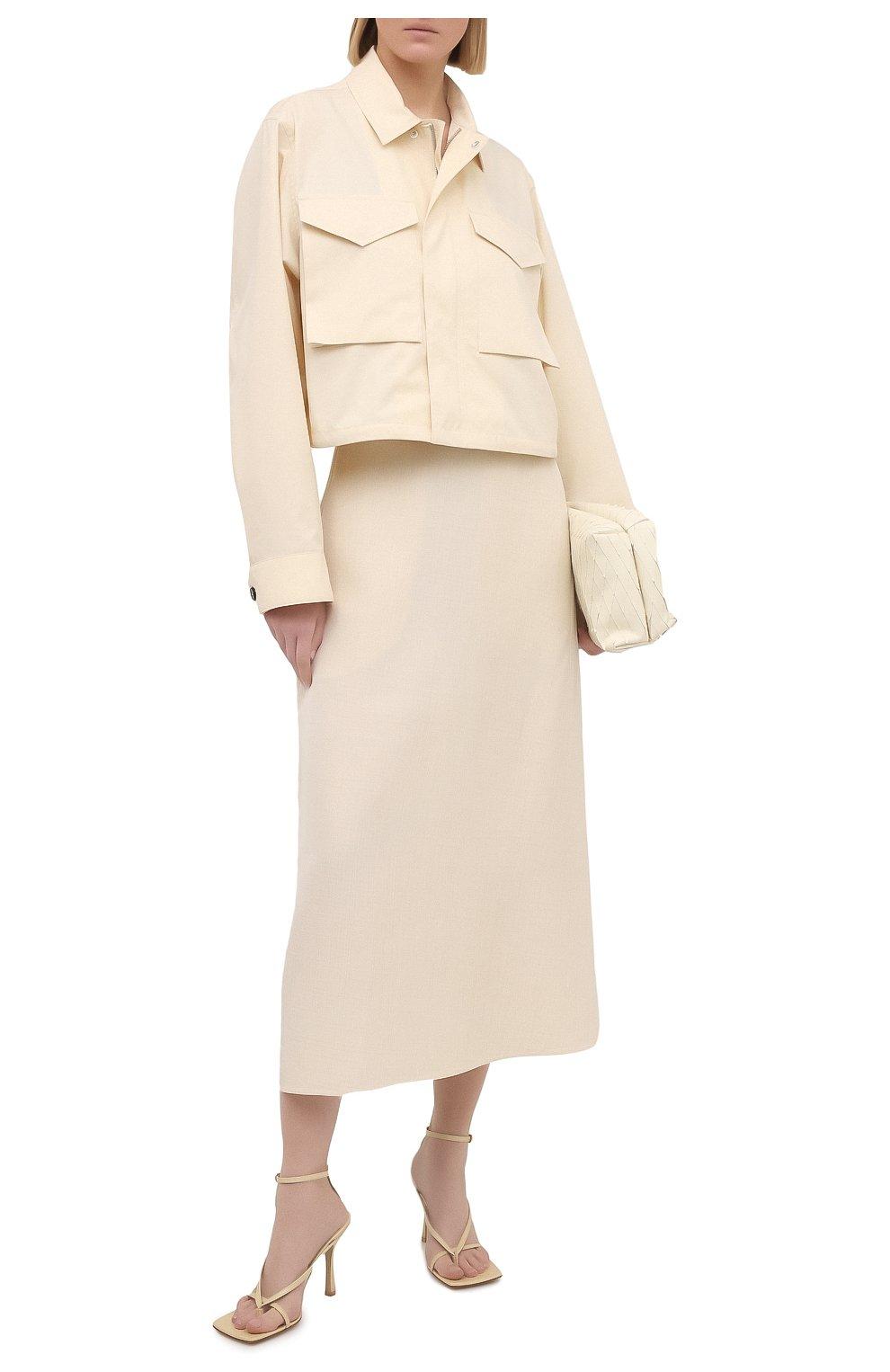 Женская хлопковая рубашка JIL SANDER кремвого цвета, арт. JSPS420305-WS251800 | Фото 2