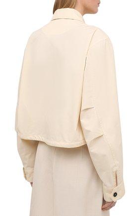 Женская хлопковая рубашка JIL SANDER кремвого цвета, арт. JSPS420305-WS251800 | Фото 4