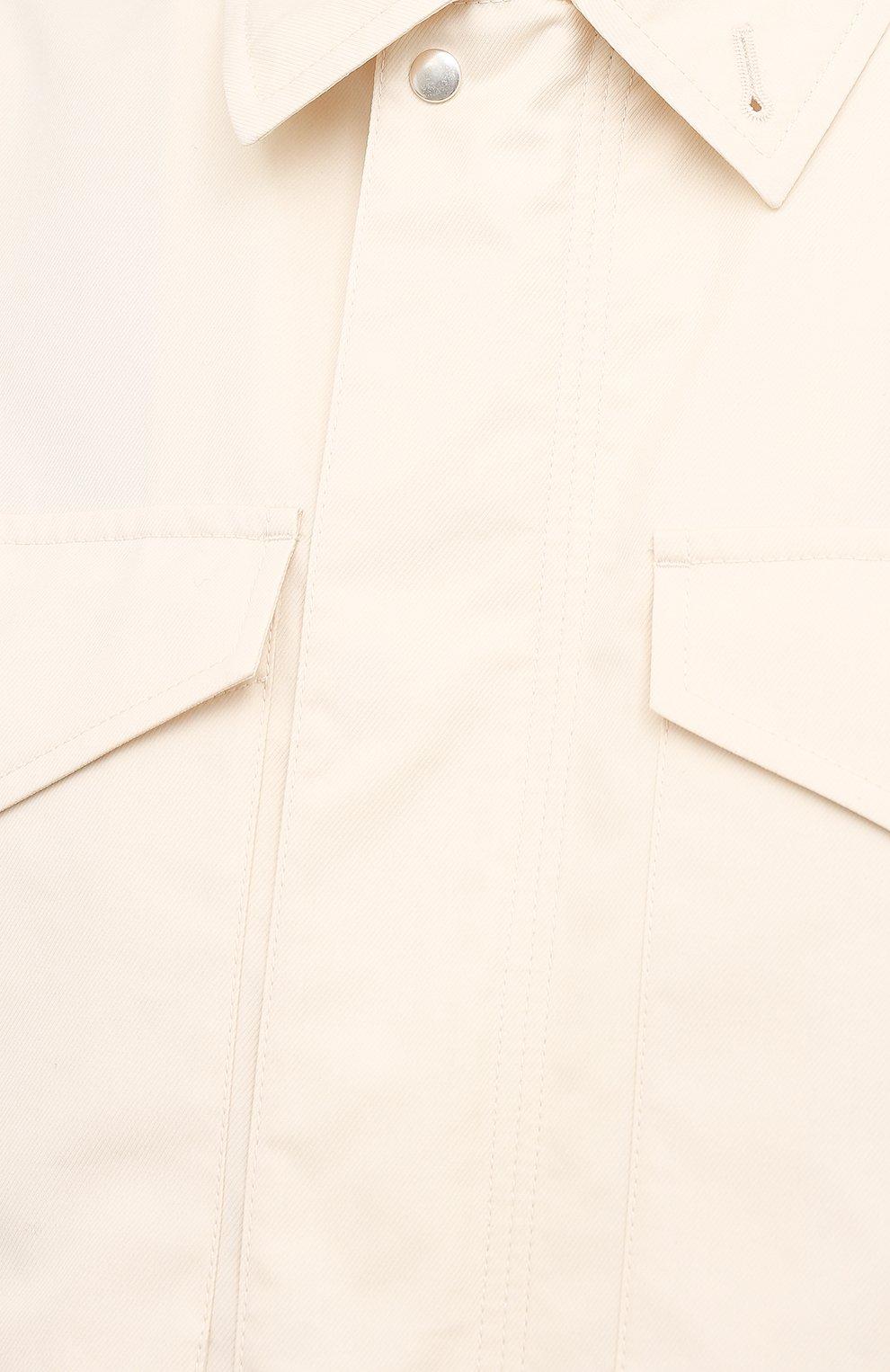 Женская хлопковая рубашка JIL SANDER кремвого цвета, арт. JSPS420305-WS251800 | Фото 5