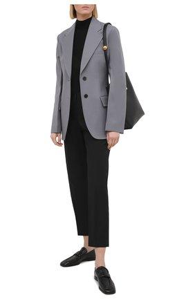 Женский пуловер из кашемира и шелка JIL SANDER черного цвета, арт. JSPS754034-WSY11008 | Фото 2