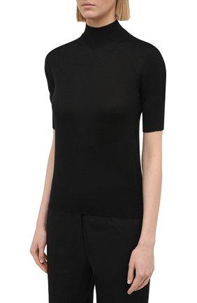 Женский пуловер из кашемира и шелка JIL SANDER черного цвета, арт. JSPS754034-WSY11008 | Фото 3