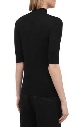 Женский пуловер из кашемира и шелка JIL SANDER черного цвета, арт. JSPS754034-WSY11008 | Фото 4