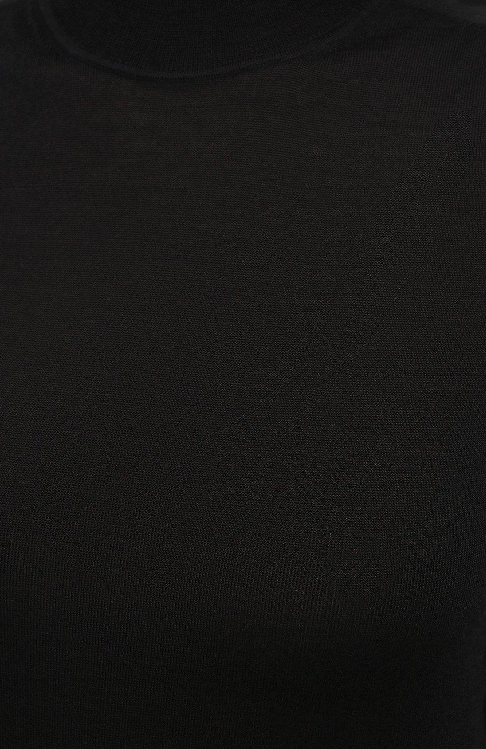 Женский пуловер из кашемира и шелка JIL SANDER черного цвета, арт. JSPS754034-WSY11008 | Фото 5