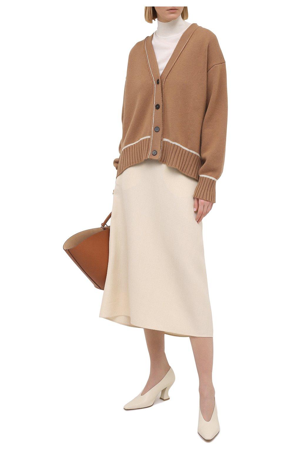 Женский пуловер из кашемира и шелка JIL SANDER белого цвета, арт. JSPS754034-WSY11008 | Фото 2