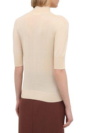 Женский пуловер из кашемира и шелка JIL SANDER кремвого цвета, арт. JSPS754034-WSY11008   Фото 4