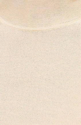 Женский пуловер из кашемира и шелка JIL SANDER кремвого цвета, арт. JSPS754034-WSY11008   Фото 5