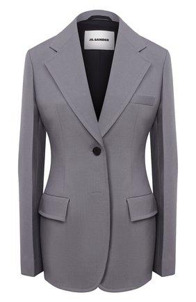 Женский шерстяной жакет JIL SANDER серого цвета, арт. JSPS130311-WS201000 | Фото 1