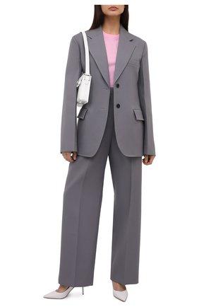 Женский шерстяной жакет JIL SANDER серого цвета, арт. JSPS130311-WS201000 | Фото 2