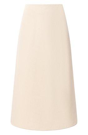 Женская юбка из вискозы и шелка JIL SANDER кремвого цвета, арт. JSPS350204-WS390300 | Фото 1