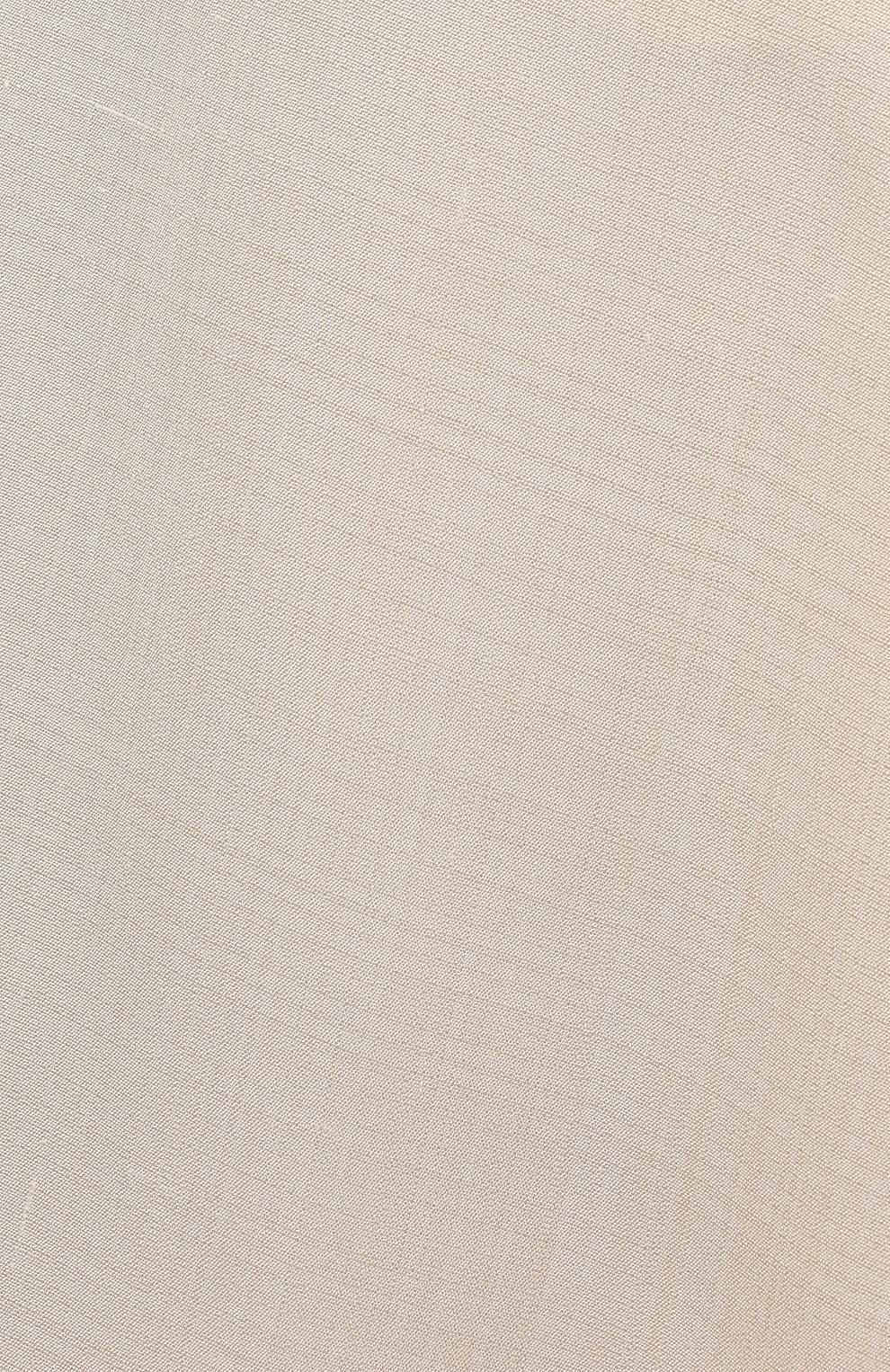 Женская юбка из вискозы и шелка JIL SANDER кремвого цвета, арт. JSPS350204-WS390300   Фото 5