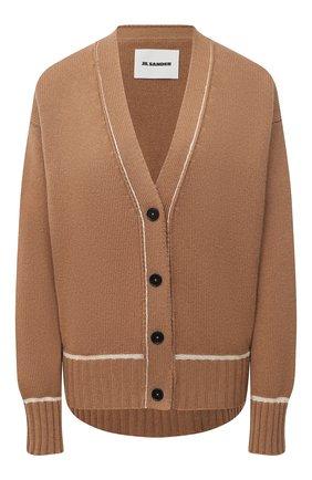 Женский шерстяной кардиган JIL SANDER коричневого цвета, арт. JSPS752055-WSY21278 | Фото 1