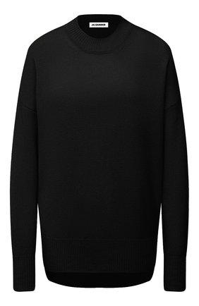 Женский кашемировый пуловер JIL SANDER черного цвета, арт. JSPS754020-WSY10008 | Фото 1