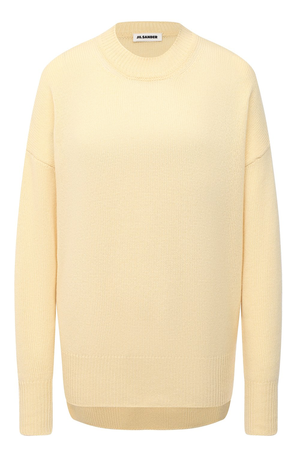 Женский кашемировый пуловер JIL SANDER кремвого цвета, арт. JSPS754020-WSY10008 | Фото 1