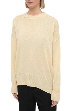 Женский кашемировый пуловер JIL SANDER кремвого цвета, арт. JSPS754020-WSY10008 | Фото 3