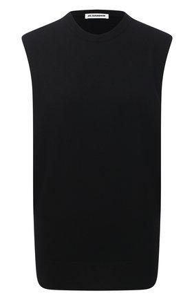 Женский кашемировый топ JIL SANDER черного цвета, арт. JSPS754025-WSY10008 | Фото 1