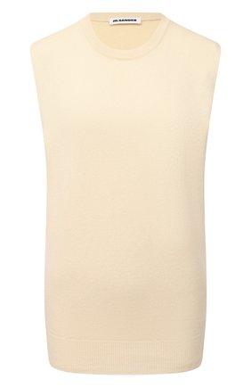 Женский кашемировый топ JIL SANDER кремвого цвета, арт. JSPS754025-WSY10008 | Фото 1