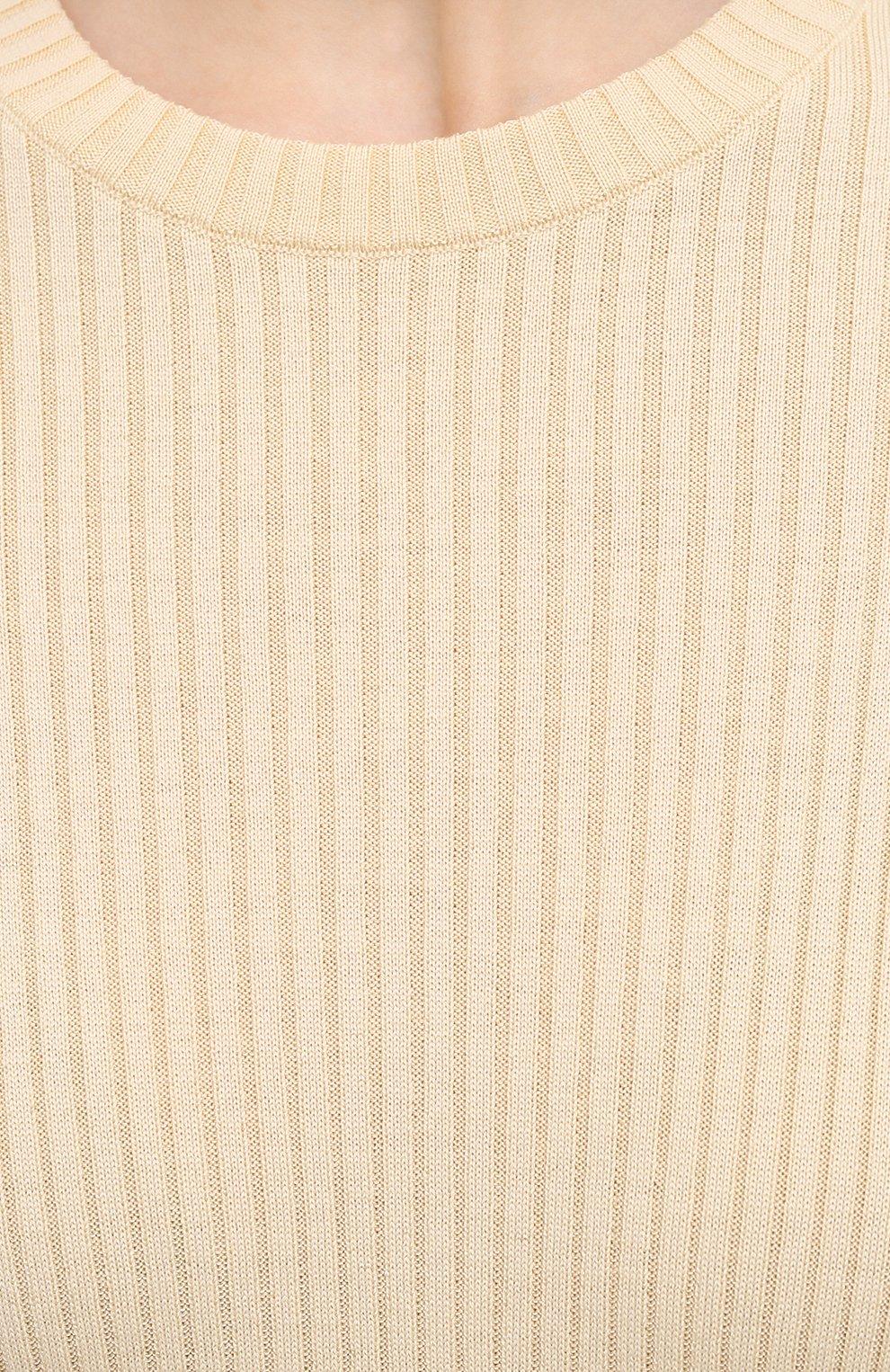 Женский пуловер из шерсти и вискозы JIL SANDER кремвого цвета, арт. JSPS754055-WSY21268   Фото 5