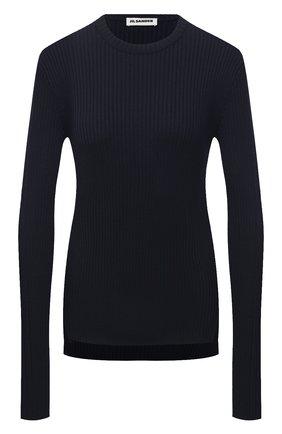 Женский пуловер из шерсти и вискозы JIL SANDER темно-синего цвета, арт. JSPS754055-WSY21268 | Фото 1