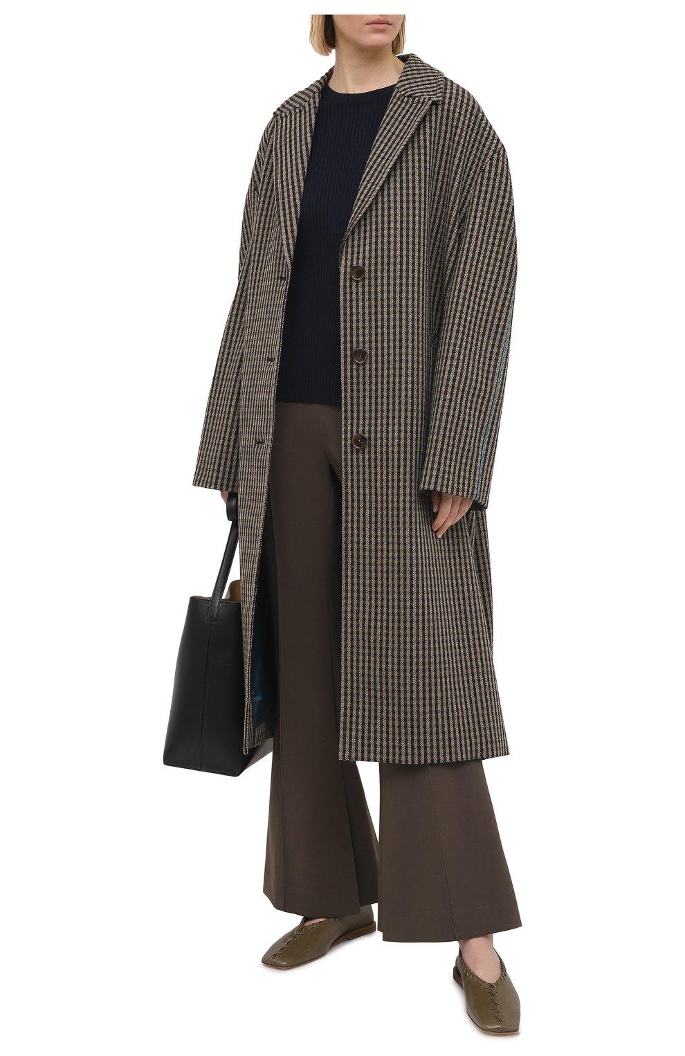 Женский пуловер из шерсти и вискозы JIL SANDER темно-синего цвета, арт. JSPS754055-WSY21268 | Фото 2