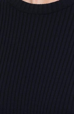 Женский пуловер из шерсти и вискозы JIL SANDER темно-синего цвета, арт. JSPS754055-WSY21268 | Фото 5