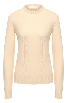 Женский пуловер JIL SANDER кремвого цвета, арт. JSPS754065-WSY46058 | Фото 1