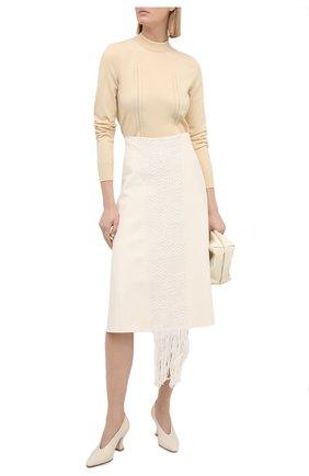 Женский пуловер JIL SANDER кремвого цвета, арт. JSPS754065-WSY46058 | Фото 2