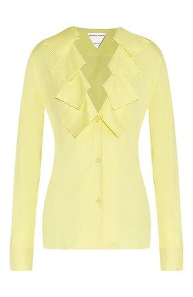 Женская блузка из вискозы BOTTEGA VENETA желтого цвета, арт. 646584/V01N0 | Фото 1