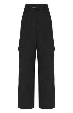 Женские хлопковые брюки BOTTEGA VENETA черного цвета, арт. 647711/V0BT0 | Фото 1