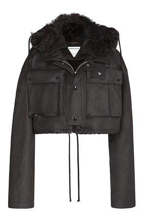 Женская хлопковая куртка BOTTEGA VENETA темно-коричневого цвета, арт. 648118/V04C0 | Фото 1