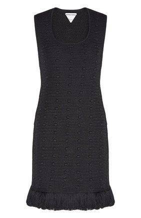 Женское хлопковое платье BOTTEGA VENETA черного цвета, арт. 648560/V0DW0 | Фото 1