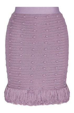 Женская хлопковая юбка BOTTEGA VENETA сиреневого цвета, арт. 648956/V0DW0 | Фото 1