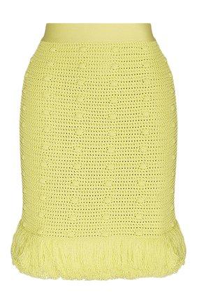 Женская хлопковая юбка BOTTEGA VENETA желтого цвета, арт. 648956/V0DW0 | Фото 1