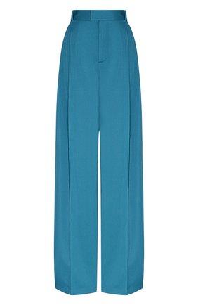 Женские хлопковые брюки BOTTEGA VENETA бирюзового цвета, арт. 649849/V0B20 | Фото 1