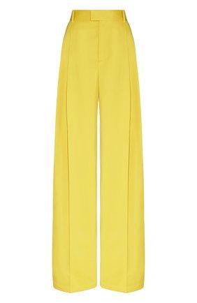 Женские хлопковые брюки BOTTEGA VENETA желтого цвета, арт. 649849/V0B20 | Фото 1