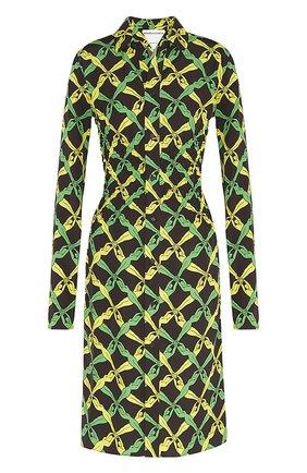 Женское платье BOTTEGA VENETA разноцветного цвета, арт. 651741/V0G60 | Фото 1
