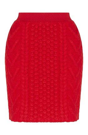 Женская шерстяная юбка BOTTEGA VENETA красного цвета, арт. 651747/V0IL0 | Фото 1