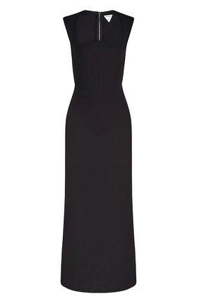 Женское платье из вискозы BOTTEGA VENETA черного цвета, арт. 652071/V0O00 | Фото 1