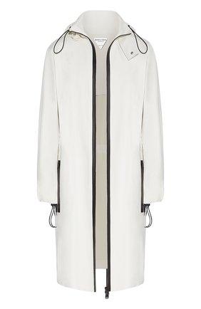 Женское кожаное пальто BOTTEGA VENETA белого цвета, арт. 652781/VKVL0 | Фото 1
