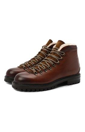 Мужские кожаные ботинки ANTONIO MAURIZI коричневого цвета, арт. 9442/LUNA+0TTERPR00F | Фото 1