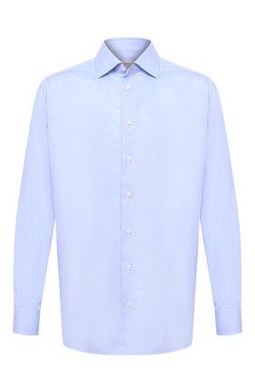 Мужская хлопковая сорочка BRIONI голубого цвета, арт. RCL40L/P003U | Фото 1